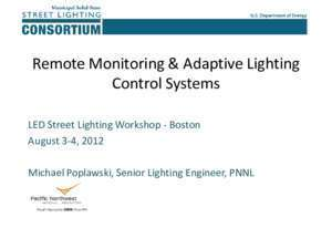 Adaptive control : Remote Monitoring & Adaptive Lighting Control Systems