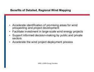 400 wrf 9 : Wind Resource Assessment and Mapping for Afghanistan
