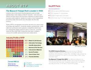 THE RESEARCH TRIANGLE PARK 2016 COMPANY DIRECTORY