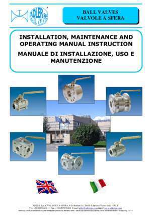INSTALLATION, MAINTENANCE AND OPERATING MANUAL   - ADLER ?