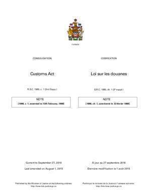 Customs Act Loi sur les douanes - Justice Laws Website