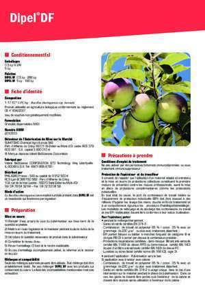 Insecticide : DIPELdf-3V-insecticide-12-2015 DT EOLE-Moyen PHYTO SERVICE