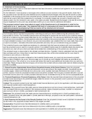 31022 : Directions Questionnaire for Suitability