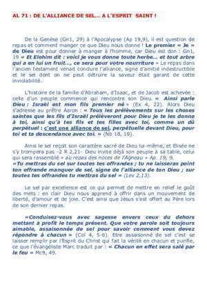 Agneau de dieu al 19 : De l Alliance de selà l Esprit Saint