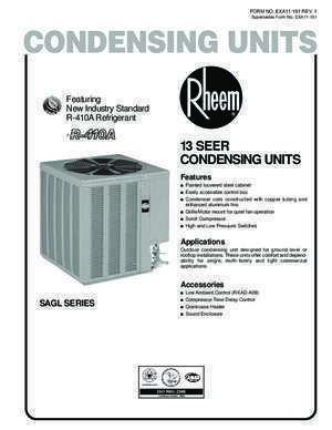 Featuring New Industry Standard R-410ARefrigerant