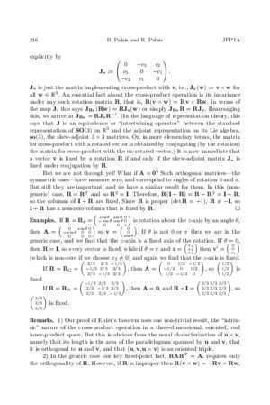 Chapter zero abstract mathematics : Euler s xed point theorem The axis of a rotation