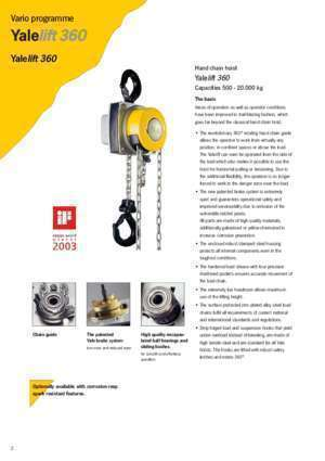 360 300 : Yale Industrial Products GmbH