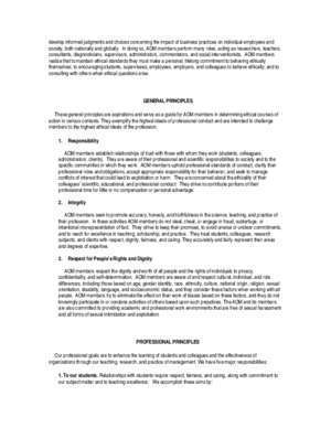 Aom 2 : Academy of Management Code of Ethics