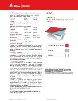 Iso 724 : AT724 Fasson ®
