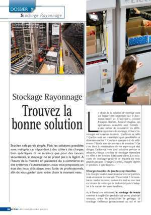 Supply Chain Magazine 75 - Dossier Stockage Rayonnage