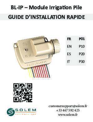 Samsug p30 : BL-IP Module Irrigation Pile GUIDE D France Arrosage