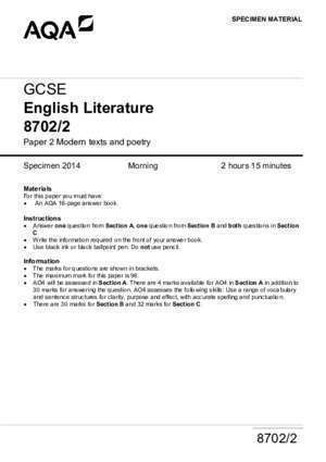 Anita blake : GCSE English Literature 8702 2 AQA