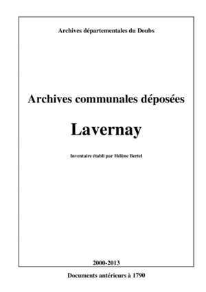 1888 1903 : Lavernay Archives départementales du Doubs
