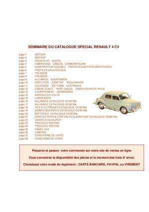 pieces de rechange pour renault 4cv notices et pdf gratuits. Black Bedroom Furniture Sets. Home Design Ideas