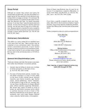 Fact Sheet on Insurance Terminations, Denials, and