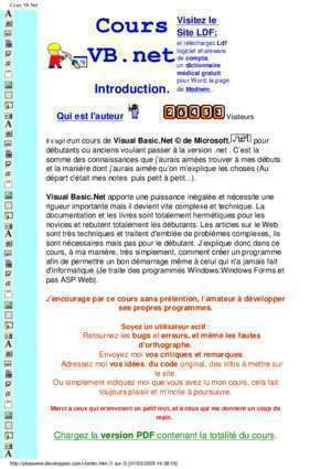 Application en asp vb net : Site LDF VB ekladata com