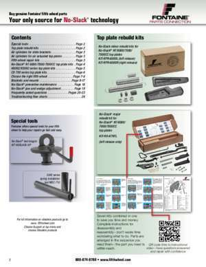 Parts catalog - Fontaine Fifth Wheel