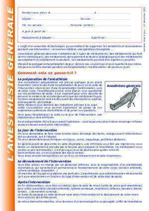 Anesthesie 24 : L ANESTHESIE GENERALE educationdupatient be