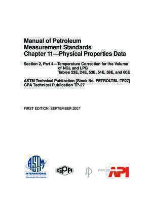 Manual of Petroleum Measurement Standards Chapter 11