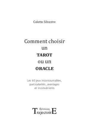 Grand eteilla : Comment choisir un tarot ou un oracle Editions Trajectoire