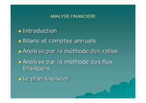 Analyse et interpretation : ANALYSE FINANCIERE SYLLABUS ipcf be
