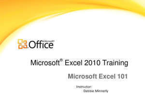 101 page 11 : Microsoft Excel 101 Home page New York State