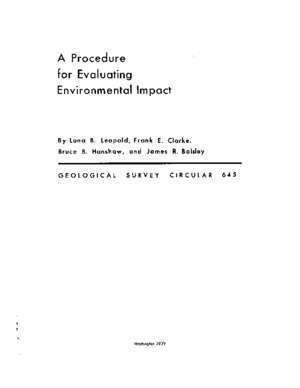 A Procedure for Evaluating Environmental Impact -