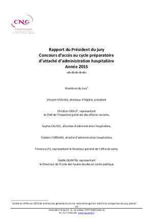 Candidatsdu cycle b professionnel : Rapport du jury CNG