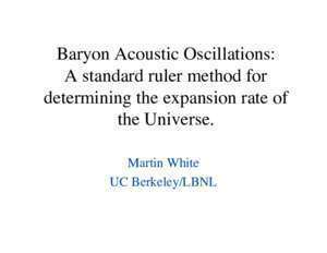 Baryon Acoustic Oscillations: A standard ruler method for