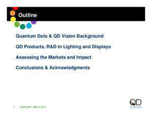 Quantum Dots: Assessing the Impact within Lighting and
