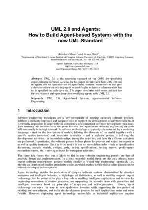 UML 2.0 and Agents: How to Build Agent-based