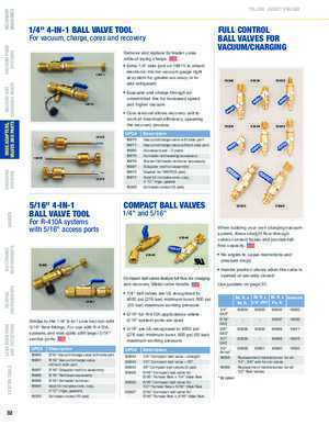 HOSE ADAPTERS, VALVES AND PARTS - Yellow Jacket