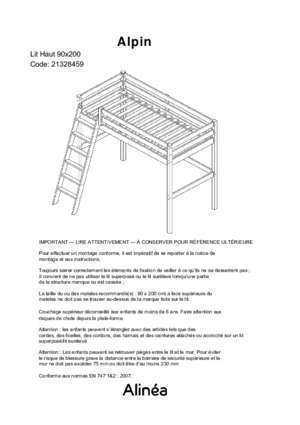 mezzanine alinea notices et pdf gratuits. Black Bedroom Furniture Sets. Home Design Ideas