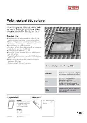 changement piles de volet velux solaire notices et pdf gratuits. Black Bedroom Furniture Sets. Home Design Ideas