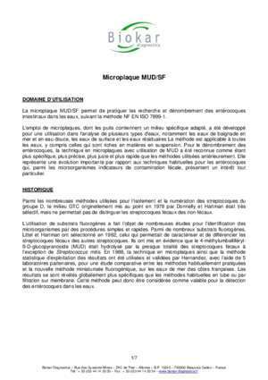 Microplaque MUD/SF - Groupe Solabia