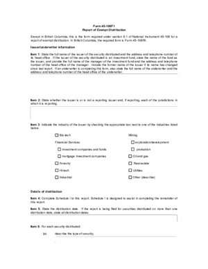 106 p 45 : Form 45-106F1 Report of Exempt Distribution
