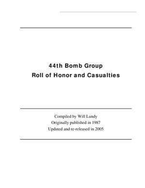 506th : 44th Bomb Group Roll of Honor and Casualties Green Harbor