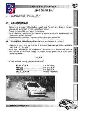 106 gr a : Liaison au sol Peugeot Sport Store