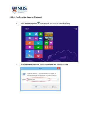 802.1x Network Configuration Guide for Windows 8 - NUS