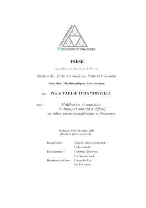Modeling and simulation of advective and diffusive transport in ...