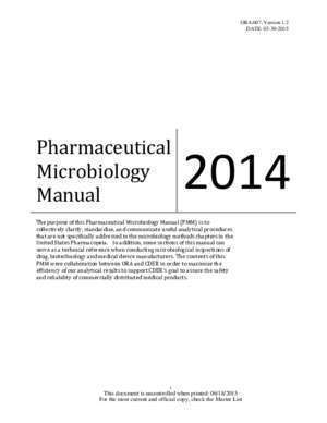 Administration des data cente : Pharmaceutical Microbiology Manual (PDF 691KB)