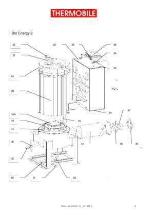 With darft : Spare parts Bio Energy 2 Thermobile