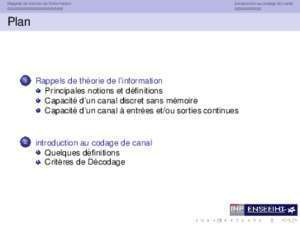 Cadage cannal : Une introduction au codage de canal