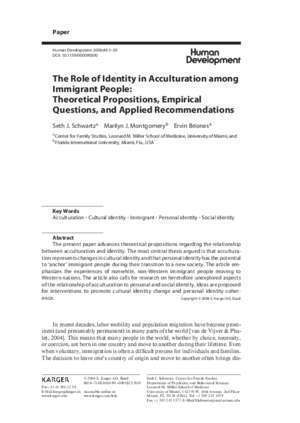 The Role of Identity in Acculturation among