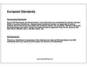 15614 11 : European Welding Standards Go Welding