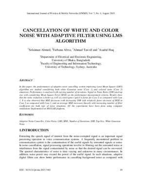 CANCELLATION OF WHITE AND COLOR NOISE WITH ADAPTIVE FILTER
