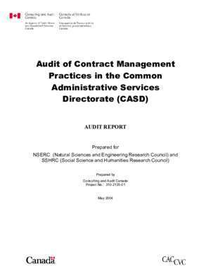 Audit social management : Audit of Contract Management Practices in the Common