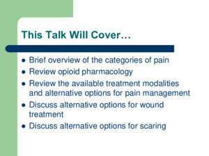 Topical Pain Medications: Another Approach to Pain, Wound and