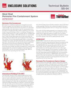Astm e 119 : Steel Stud Perimeter Fire Containment System