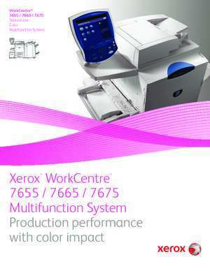 7675 : WorkCentre Multifunction System with color impact Xerox